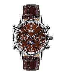 Air Classic brown leather watch