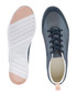 Patterned navy lace-up branded sneakers Sale - lacoste Sale