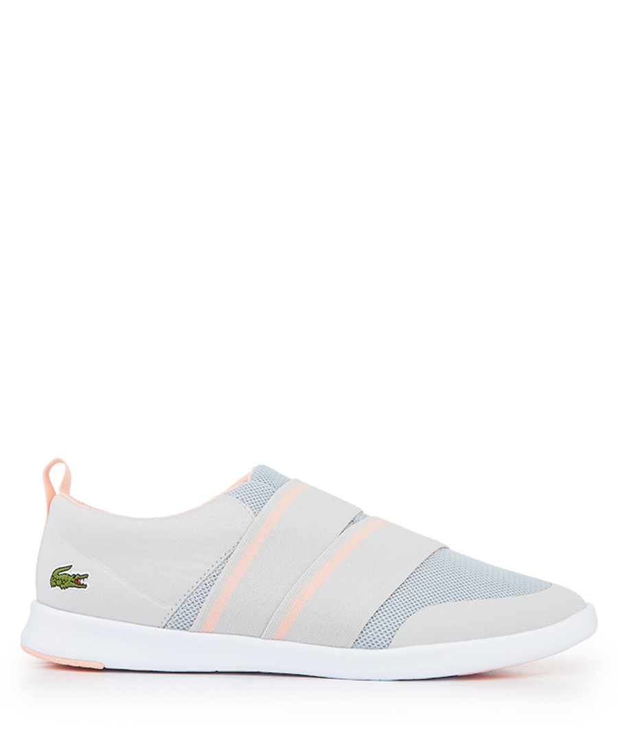 Grey & pink branded slip-on sneakers Sale - lacoste
