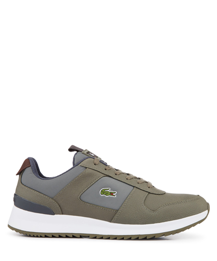 Green & grey branded lace-up sneakers Sale - lacoste
