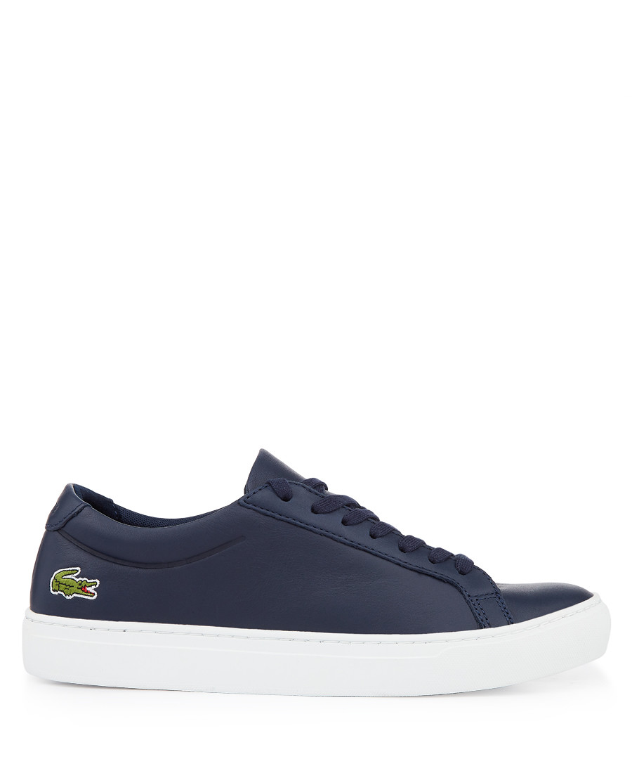 Navy branded lace-up sneakers Sale - lacoste