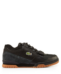 Black & tan branded lace-up sneakers