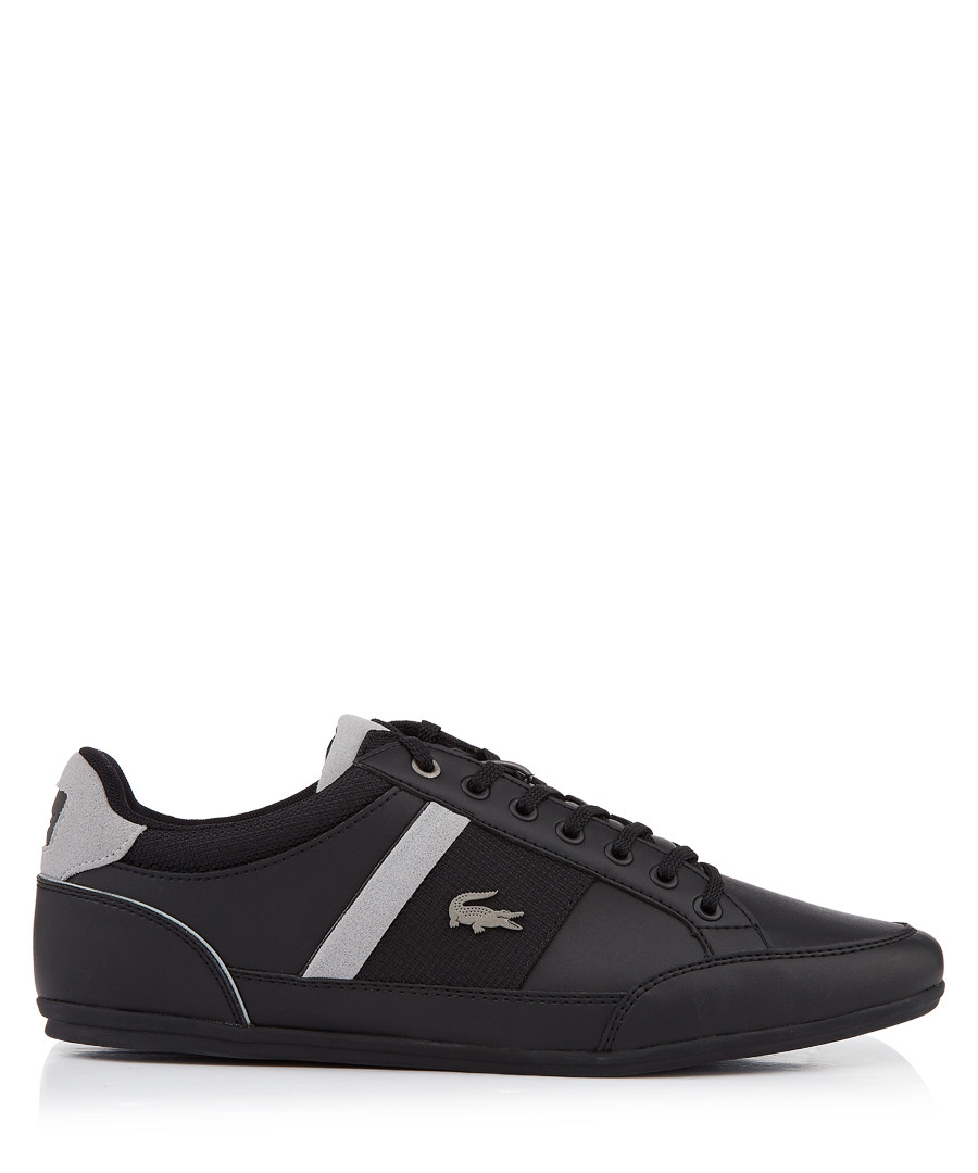 Black & grey sleek lace-up sneakers Sale - lacoste