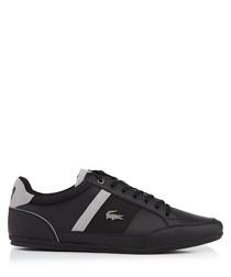 Black & grey sleek lace-up sneakers