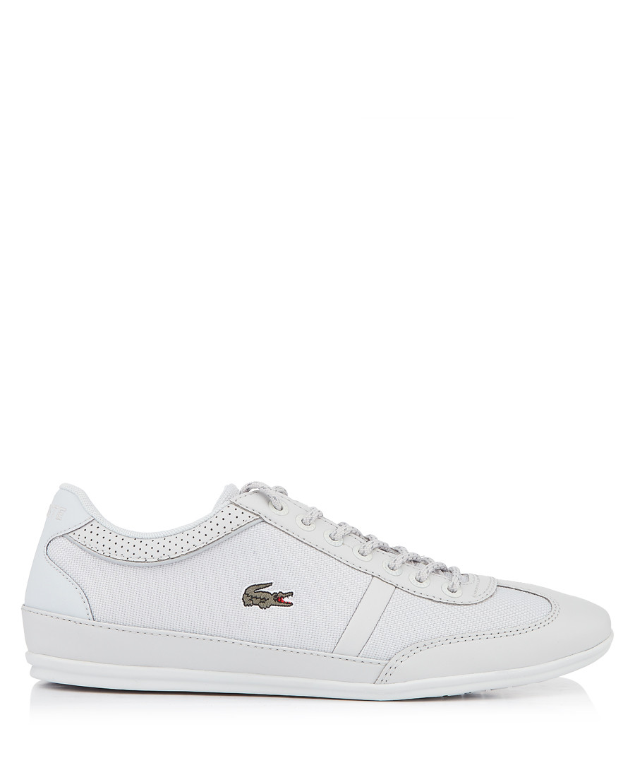Grey branded lace-up sneakers Sale - lacoste