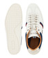 White & navy branded stripe sneakers Sale - lacoste Sale