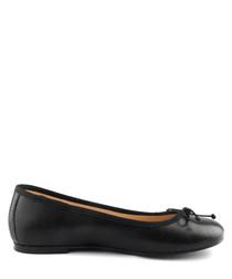 Black leather ballet pumps