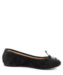 Black suede ballet pumps