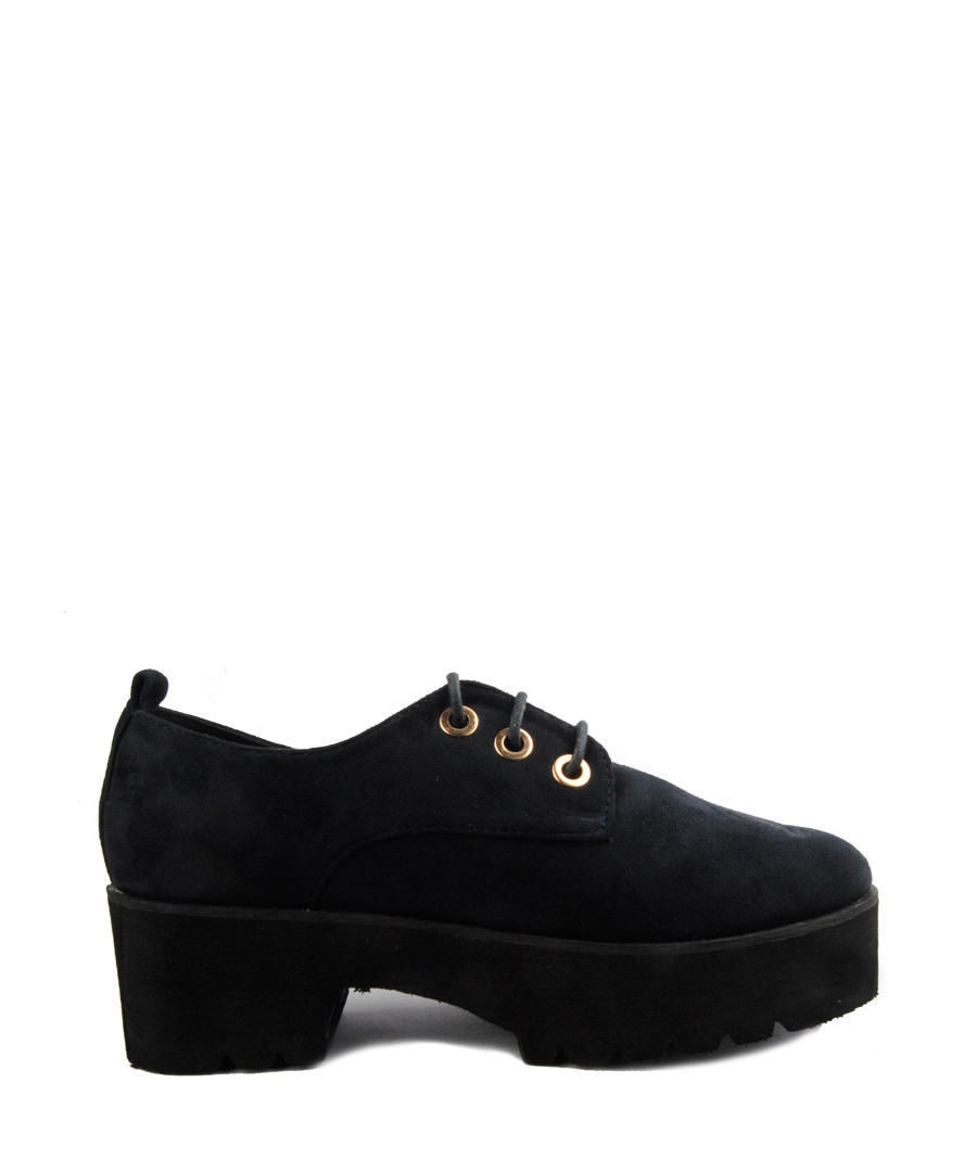 Midnight lace-up platform shoes Sale - BROSSHOES