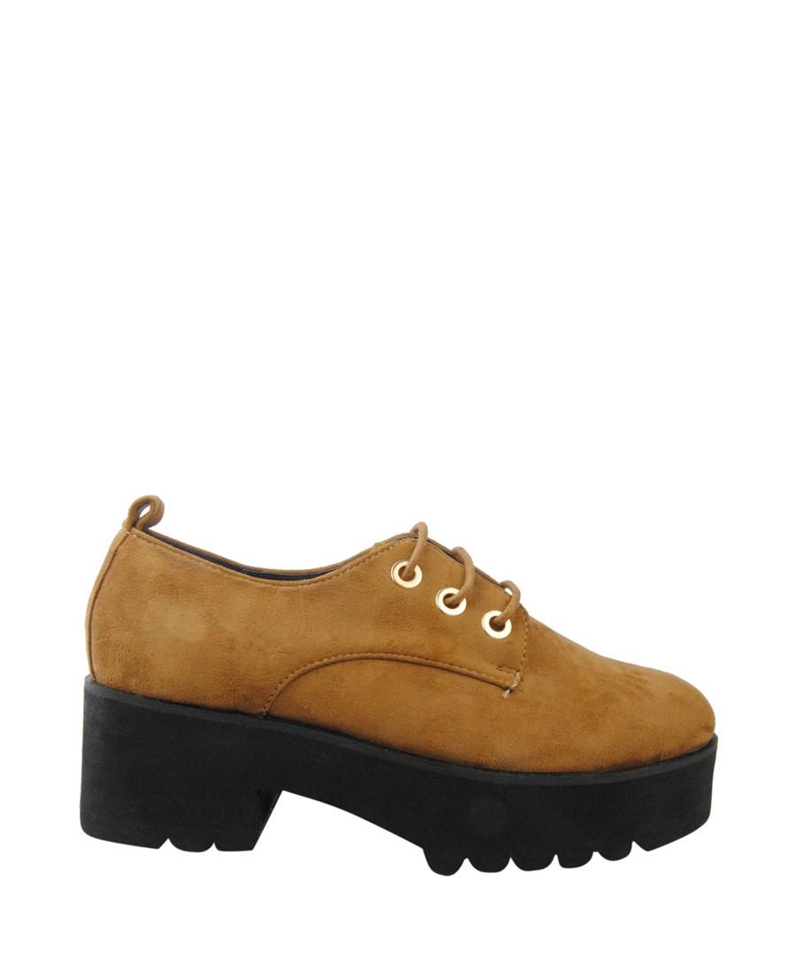 Tan lace-up platform shoes Sale - BROSSHOES