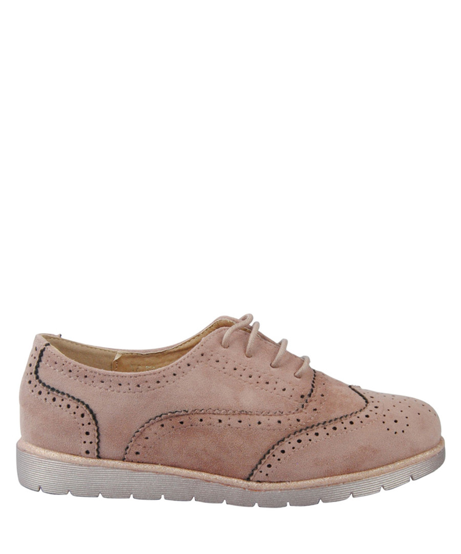 Dusty pink relaxed lace-up brogue shoes Sale - BROSSHOES