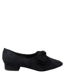 Black bow detail pointed pumps