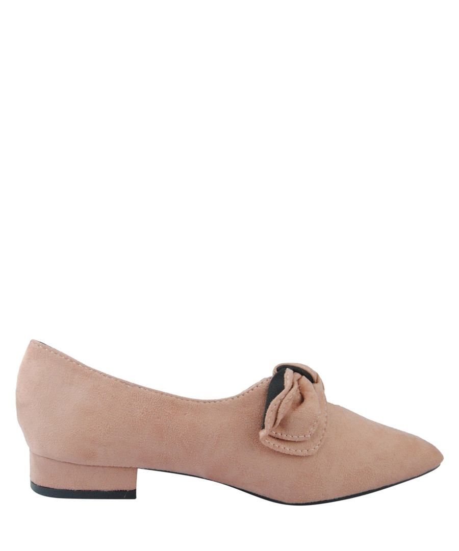 Dusty pink bow detail pointed pumps Sale - BROSSHOES