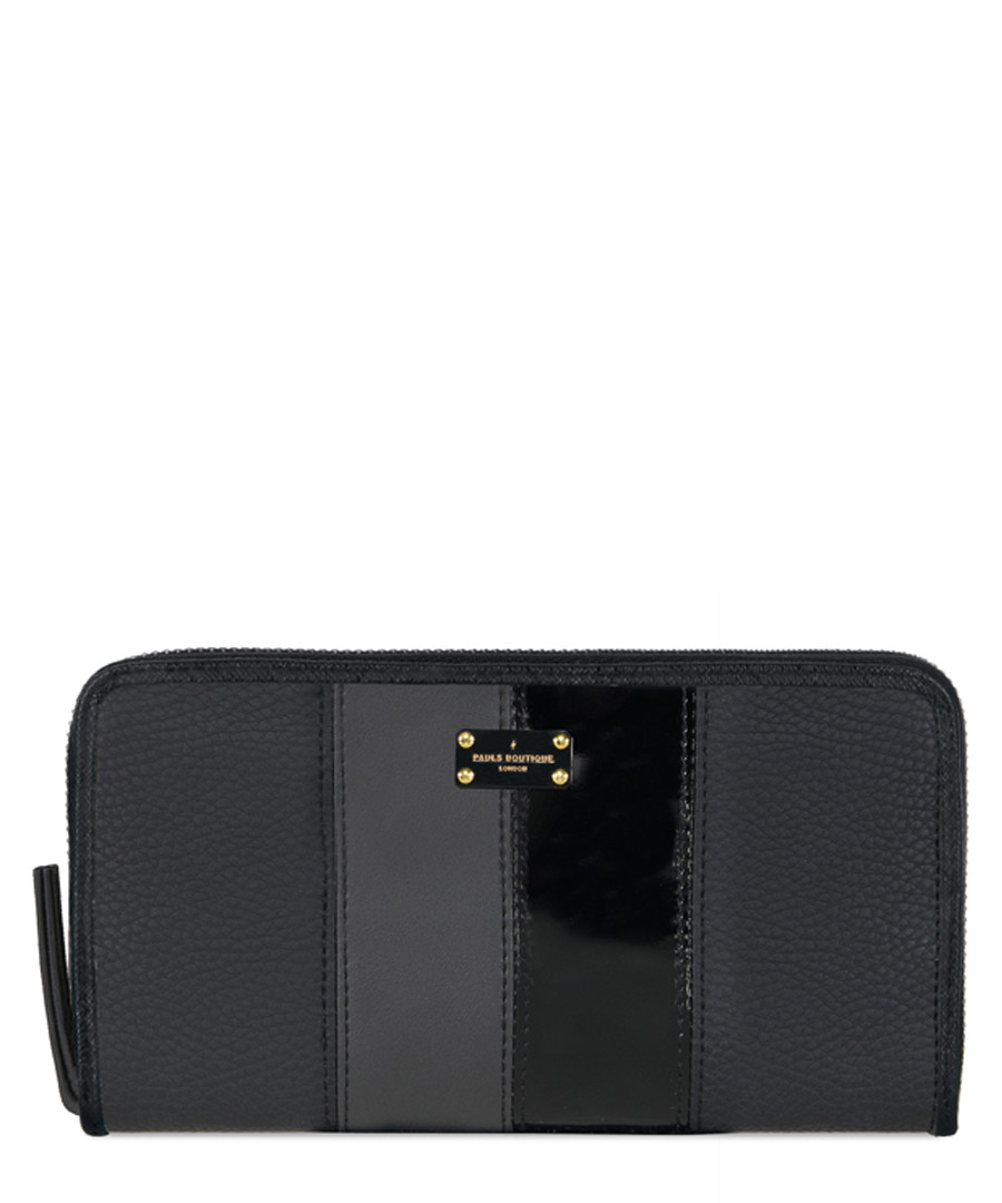 Lizzie black panel wallet Sale - Pauls Boutique