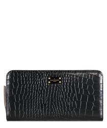 Carla black moc-croc wallet