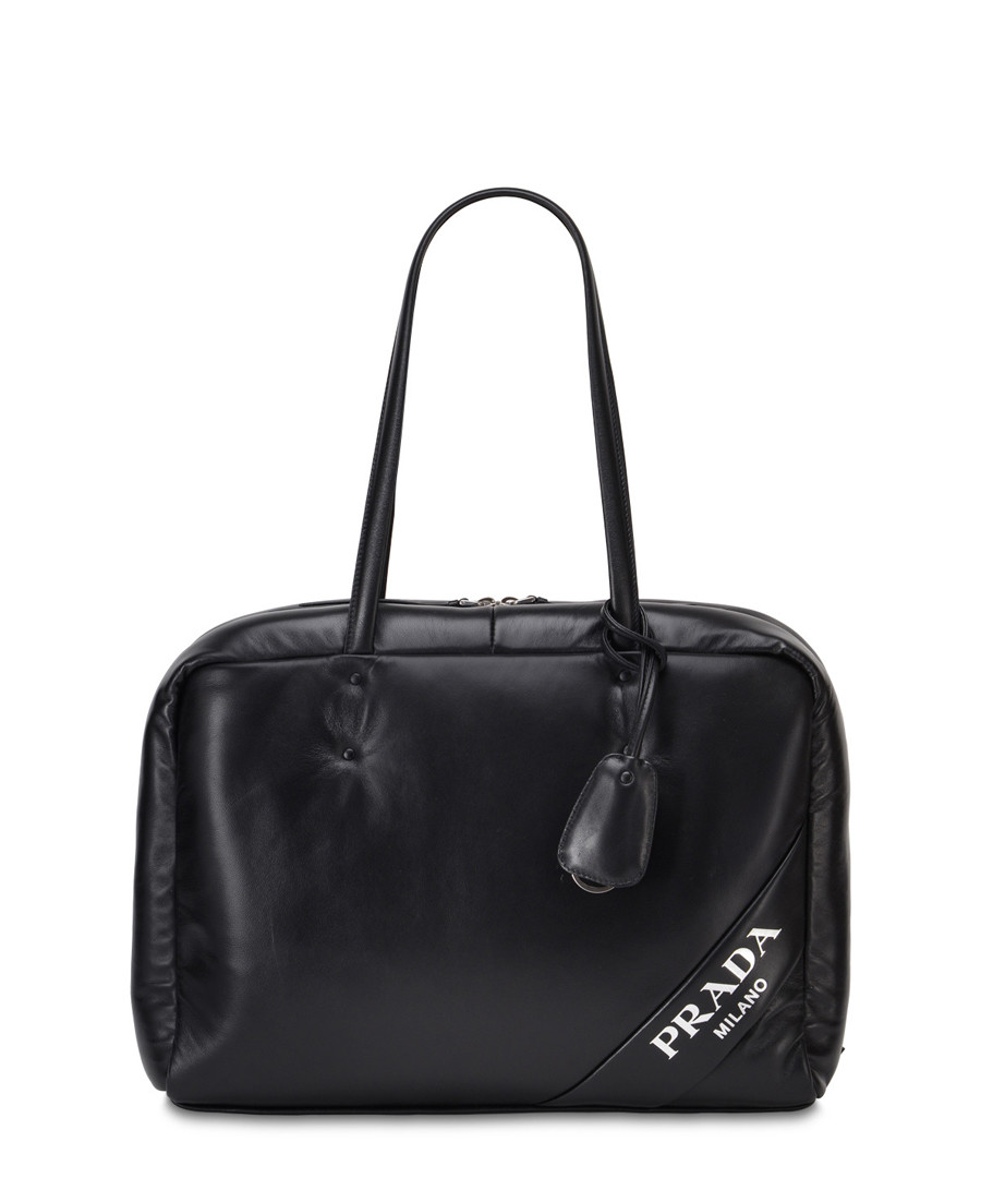 Black leather padded tote bag Sale - Prada