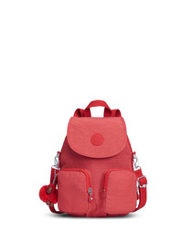 Firefly Up red pocket backpack