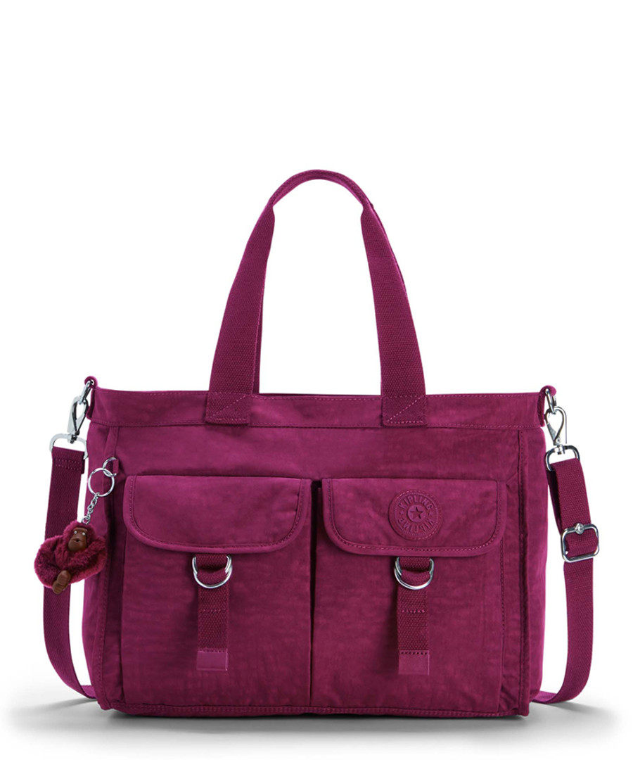 Elise plum pocket shoulder bag Sale - kipling