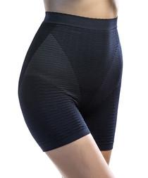 Black geo high-waist shaping briefs