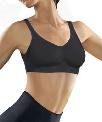 Black seamless push-up bra