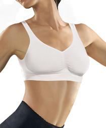 White seamless push-up bra