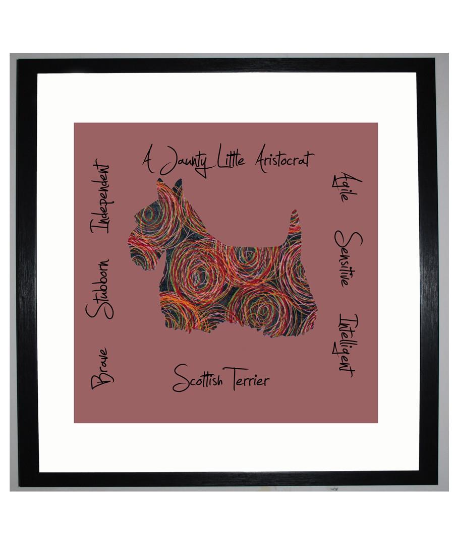 Scottish Terrier I framed print 25.4cm Sale - The Art Guys