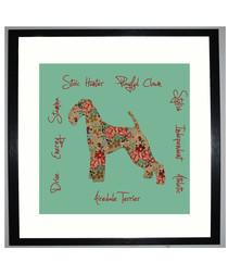 Airedale Terrier I framed print 25.4cm