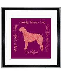 Irish Wolfhound II framed print 25.4cm