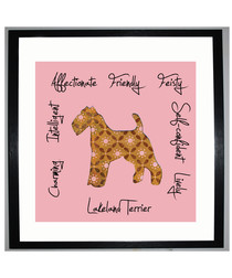 Lakeland Terrier II framed print 25.4cm