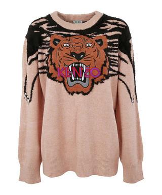 bc809f1ae kenzo. Oversize Tiger peach mohair blend jumper