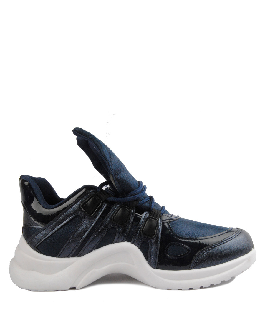 Navy oversize tongue sneakers Sale - BROSSHOES