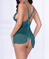 Emerald sheer babydoll set Sale - seven til midnight Sale