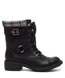 Thunder black biker boots