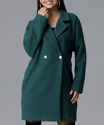 Green two-button coat
