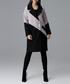 Beige & black contrast coat Sale - figl Sale