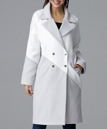 Grey & white contrast coat