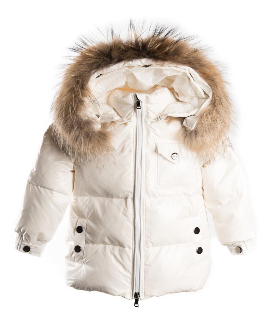 White down filled fur puffer coat Sale - LOOK LIKE COOL