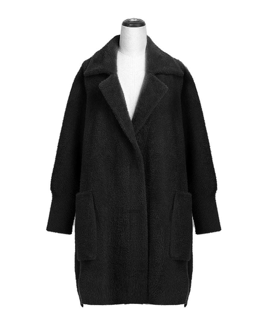 Black pocket lapel coat Sale - Keshi Mier