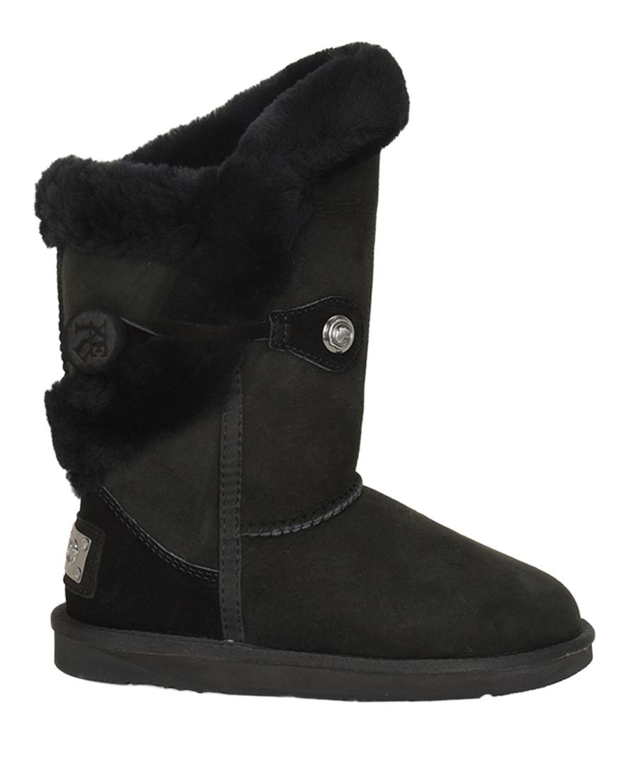 Nordic black shearling boots Sale - AUSTRALIA LUXE CO