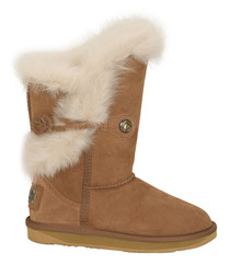 Chestnut shearling boots