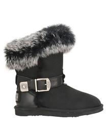 Tsar black shearling boots