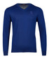 Royal blue pure wool v-neck logo jumper Sale - roberto cavalli Sale