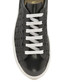 Black leather weave sneakers Sale - ravel Sale