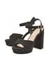 Black strap block high heels Sale - ravel Sale