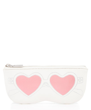 788d9d7daa3b Heart Sunnies optic white leather pouch Sale - Rebecca Minkoff Sale