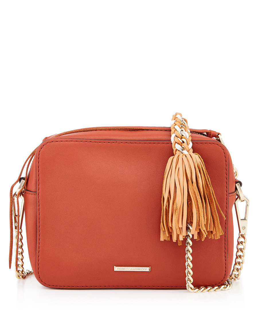 Chase brick leather camera crossbody Sale - Rebecca Minkoff