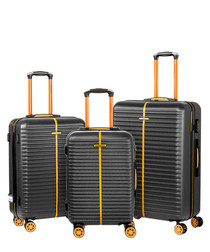 3pc E-1 black luggage set