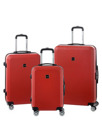 3pc TLV dark red luggage set
