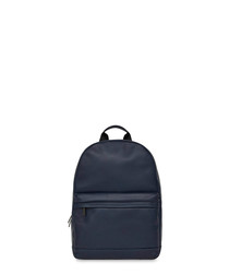 Albion blue leather backpack