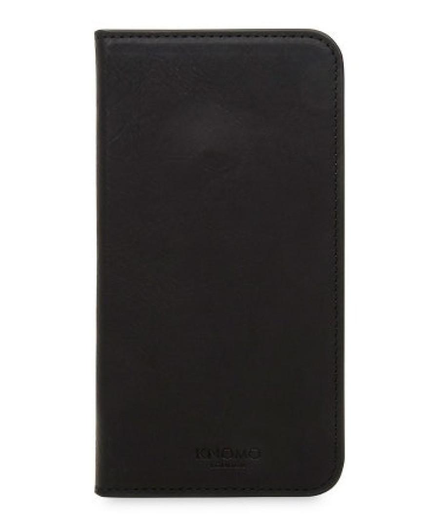 Black iPhone X leather phone case Sale - knomo